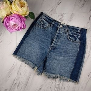 Free People 2 Tone Denim Cutoff Shorts SZ 25